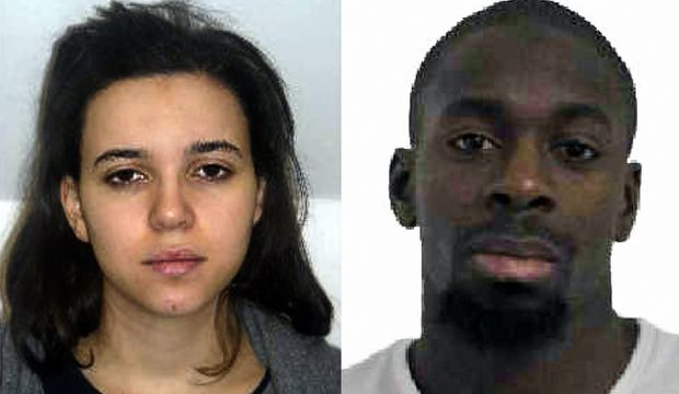 Police are still searching for Hayat Boumeddiene, left, who is said to be gunman Amedy Coulibaly's partner.