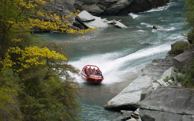 A file photo of a jet boat on the Shotover River near Queenstown.
