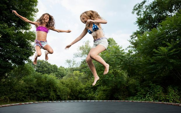 More than 300 children are hospitalised each year due to trampoline injuries.