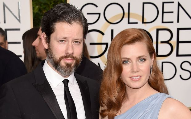 Actors Darren Le Gallo and Amy Adams attend the Golden Globes.