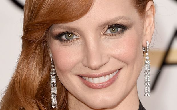 Jessica Chastain at the Golden Globe.
