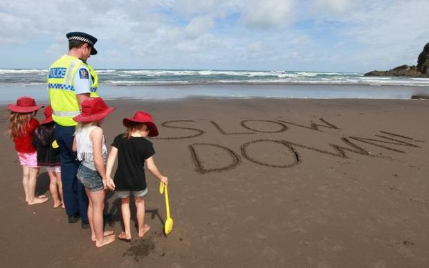 The Reach the Beach campaign's message on speeding has been criticised as confusing.