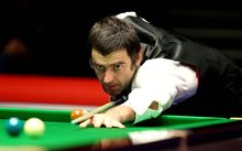 English snooker player Ronnie O'Sullivan