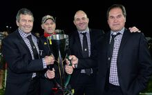 2013 Chiefs Super Rugby winning coaches Wayne Smith, Andrew Strawbridge, Tom Coventry and Dave Rennie.