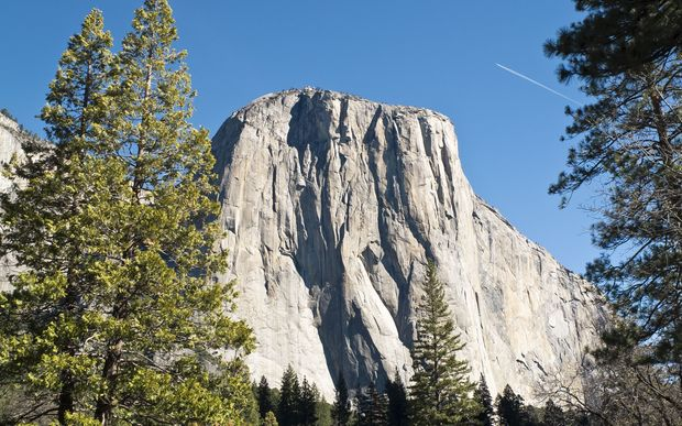 A file photo shows the iconic rock formation El Capitan in Yosemite National Park, California (March 2014).