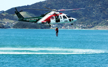 The Northland Emergency Services Trust rescue helicopter during a training exercise.