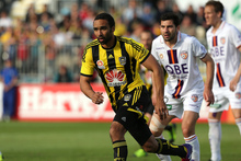Paul Ifill in action for the Wellington Phoenix.