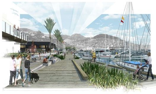 An artist's impression of the Dampier Bay development.