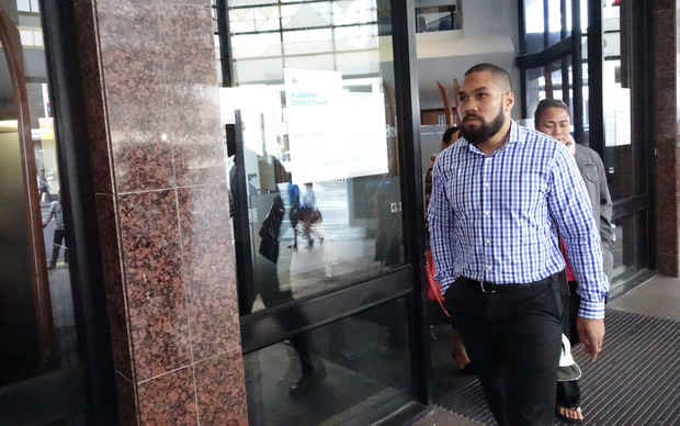 Not guilty: Siua Moala, brother of Auckland Blues winger George Moala, walks out of the Auckland District Court.