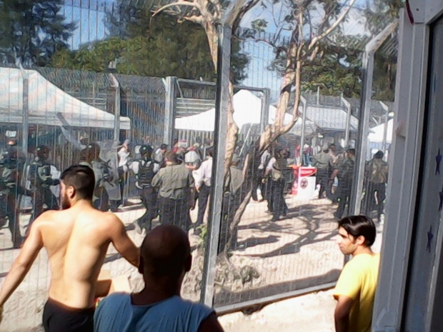 Protests on Manus Island during the recent hunger strikes.
