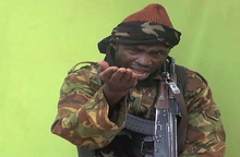 Screengrab from a video released by Nigerian Islamist extremist group Boko Haram in May 2014.