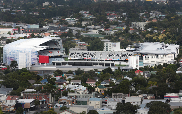 Mt Eden Park Stadium. View from Mt Eden Summit