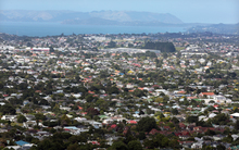 Auckland housing. View from Mount Eden summit