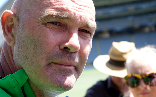 New Zealand cricketing great Martin Crowe speaking to media at Eden Park.