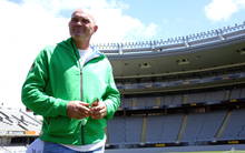 The New Zealand cricketing great Martin Crowe speaking to media at Eden Park.