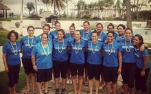 The Samoan netball team in Fiji for the Oceania Tri Series.