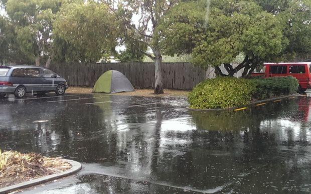 The Christchurch City Council has received complaints about backpackers camping in the car park in New Brighton.