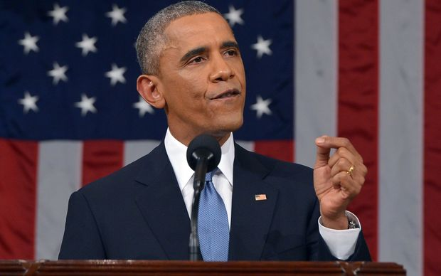US President Barack Obama delivers his 2015 State of the Union Address to Congress.