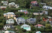 Houses on the hills in Lyttelton.