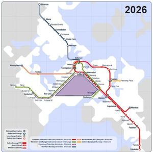 "Auckland Transport believes Light Rail could be the answer to serve a triangle it calls ""the void"" between the western and southern rail lines."