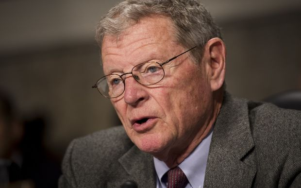 Senator James Inhofe is seen as the top climate change denier in the US Congress.