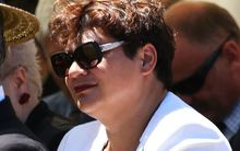 Metiria Turei waits to speak at Ratana