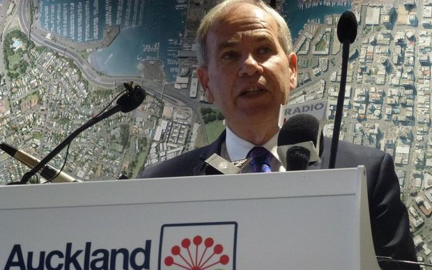 Auckland's Mayor Len Brown launching public consultation on the city's Long Term Plan.