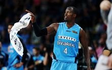 Cedric Jackson reacts after being ejected at Vector Arena