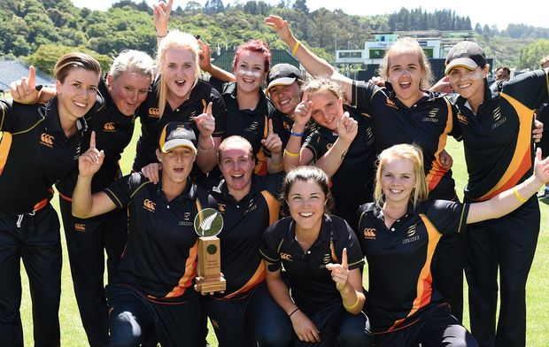 2014-15 Women's T20 cricket champions, Wellington.