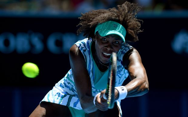 Venus Williams in action in Melbourne
