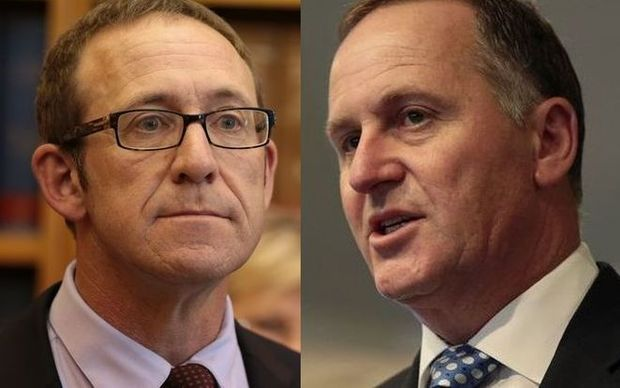Andrew Little (L) and John Key