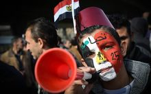 Supporters of Egyptian President Abdel Fattah al-Sisi demonstrate in Cairo.