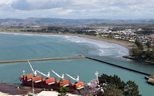 Gisborne and its port.