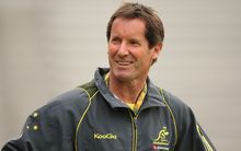 Robbie Deans while coaching the Wallabies.