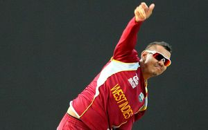 The West Indies off-spinner Sunil Narine.