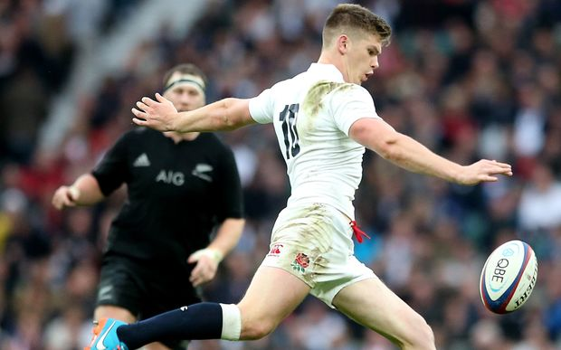 England first-five Owen Farrell in action.