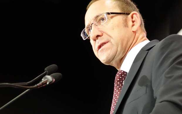 Andrew Little delivering his 'state of the nation' speech in Auckland.