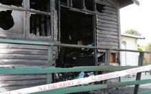 The badly damaged administration building at Tamapahore Marae.