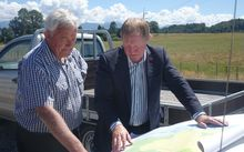 Bernie Monk, left, and Environment Minister Nick Smith.