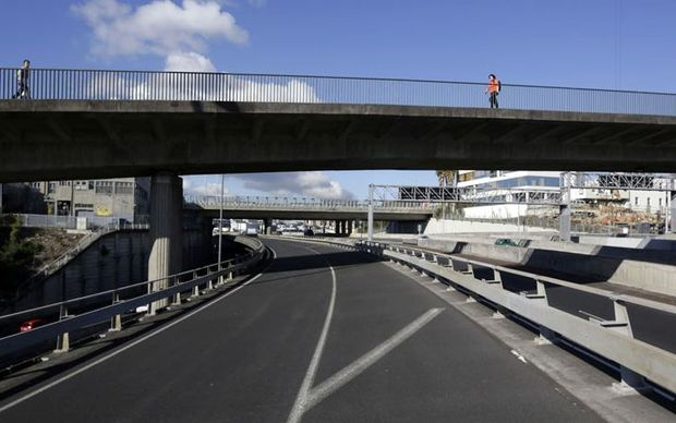 Cyclists will use the Nelson Street offramp made redundant ten years ago in a revamp of the Central Motorway Junction (aka Spaghetti Junction).