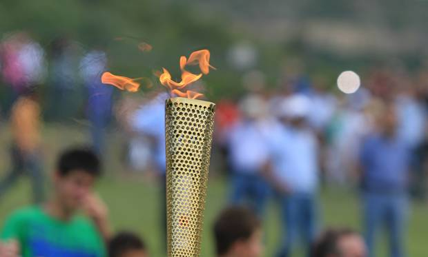 The Olympic torch.