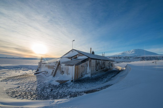 Captain Scott's hut at Cape Evans is one of three historic buildings to be restored by the New Zealand Antarctic Heritage Trust.