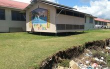 Solomon Islands Referral Hospital, coastal erosion.