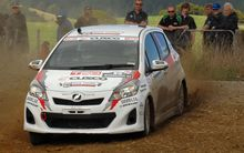 Michael Young from Perth in his Toyota Vitz (Yaris) in Rally Whangarei, 2013.