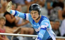 The New Zealand national track cycling sprint champion Sam Webster.