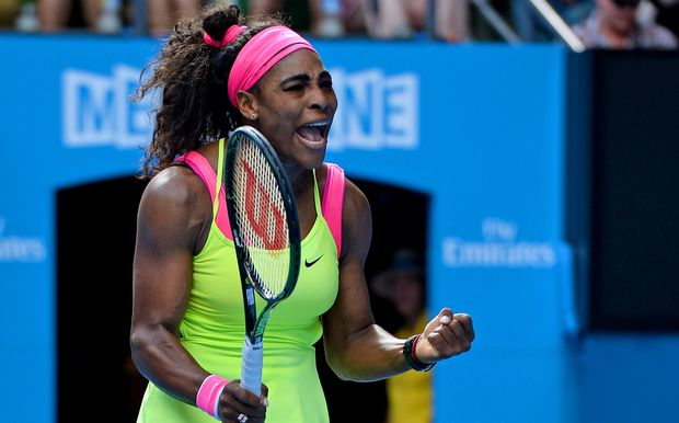 The world number one Serena Williams in action at the Australian Open.
