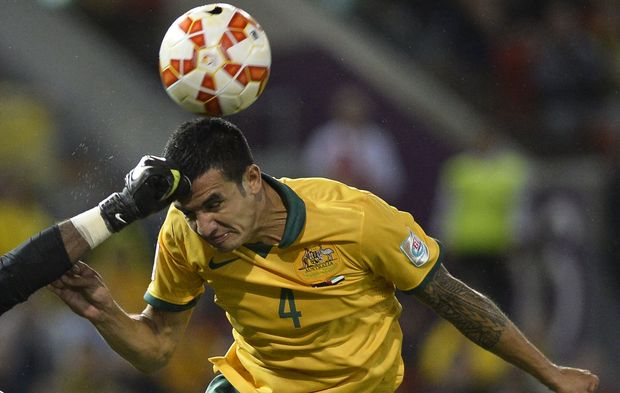 Australia's Tim Cahill in Asian Cup action.