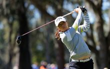 Lydia Ko tees off in Florida.
