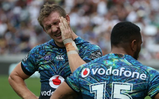 Ryan Hoffman shows his disappointment after the quarter-final loss to Cronulla