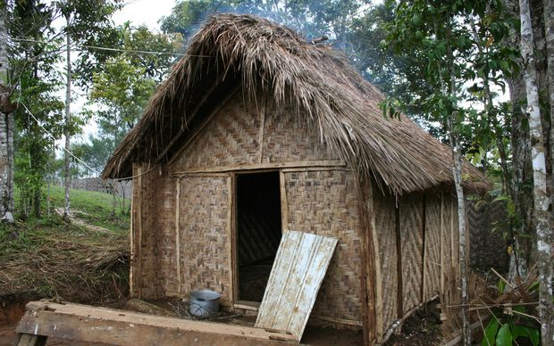 A hut in the Highlands of Papua New Guinea.